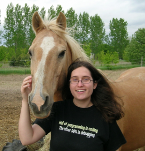 Roy, a beautiful palomino horse, standing with me